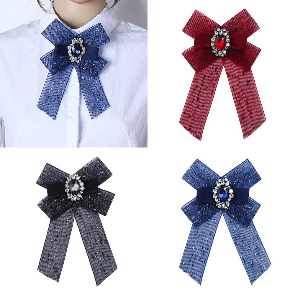 Women Acrylic Decorate Bow Tie Party Xmas Banquet Adjustable Necktie Christmas