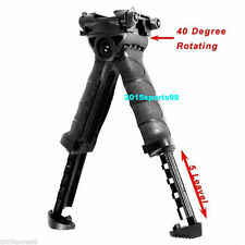 Tactical Hunting Swivel Bipod Foldable Foregrip 20mm Picatinny Rail For Rifle A