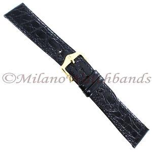 20mm-Hirsch-Black-Genuine-Certified-Crocodile-Stitched-Turned-Edge-Mens-Band-Reg