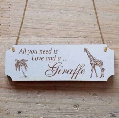 Türschild Dekoschild « Giraffe 01 »