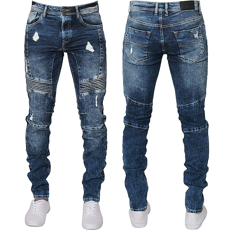 883 Police Mens Engineered Detail Vintage Premium Stretch Designer Denim Jeans