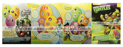 *DUDLEY/'S* Egg Decorating Kit EASTER Non-Toxic CHARACTERS For Kids *YOU CHOOSE*