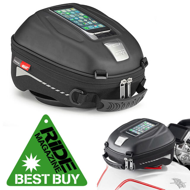 Givi ST602 Tanklock Motorcycle Tank Bag With Phone Holder Quick Release 4 Litre