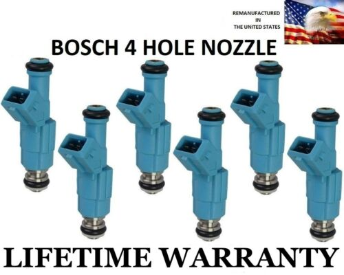 6X Flow Matched Bosch 4 Hole Fuel Injectors for Ford Ranger Mazda B4000 4.0L V6