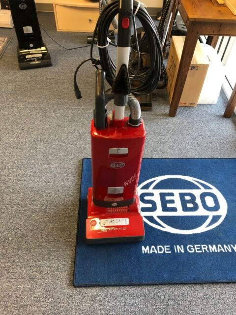 Sebo Automatic X7 91543AM Premium Upright Vacuum Cleaner (Red) Brand New Never O