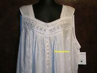 Eileen West Sleeveless Short Cotton Lawn White 1x