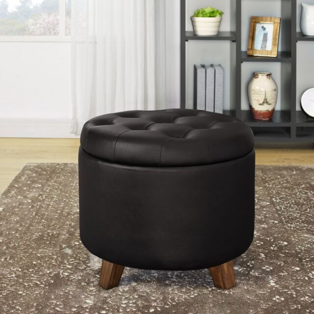 Sensational Classic Storage Ottoman Seat Large Round Plump Table Tray Home Trim Espresso Usa Caraccident5 Cool Chair Designs And Ideas Caraccident5Info
