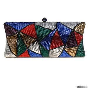 imitación Embrague diseño de 560576 diamantes concha duro triangular 724519859187 mujer para con 031 multicolor de de rq1vnTYr