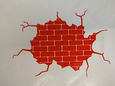 Brick wall broken  novelyy laptop  snowboard  funny  - CAR / WINDOW STICKER