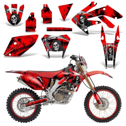 Honda CRF250X Dirt Bike Grafiken Set Aufkleber Wrap Aufkleber 2004-2016 Reap Rot