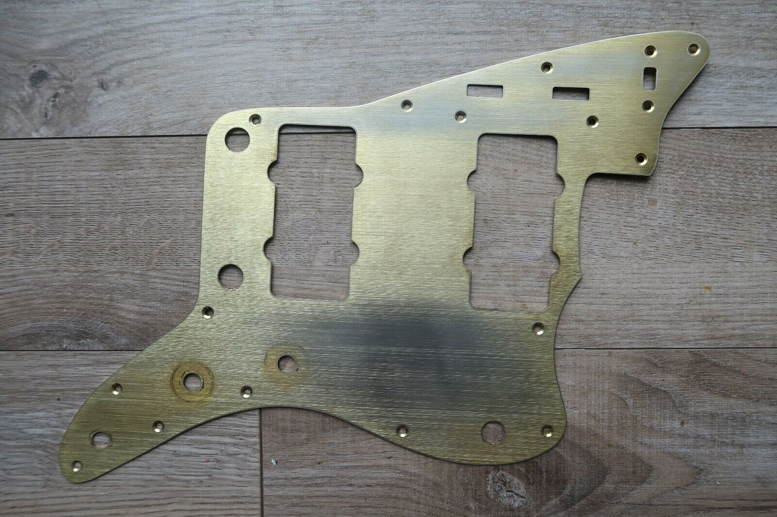 50's early 60's Fender Jazzmaster Pickguard Gold anodized Relic   Aged