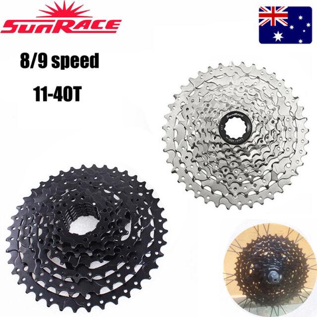 SUNRACE 8/9 Speed 11-40T Cogs Detachable Cassette MTB Bike Sprocket Cassettes