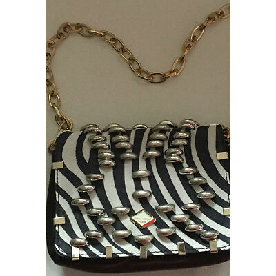 Jimmy Choo for H&M Tasche Bag Zebra mit Nieten Clutch Wildleder