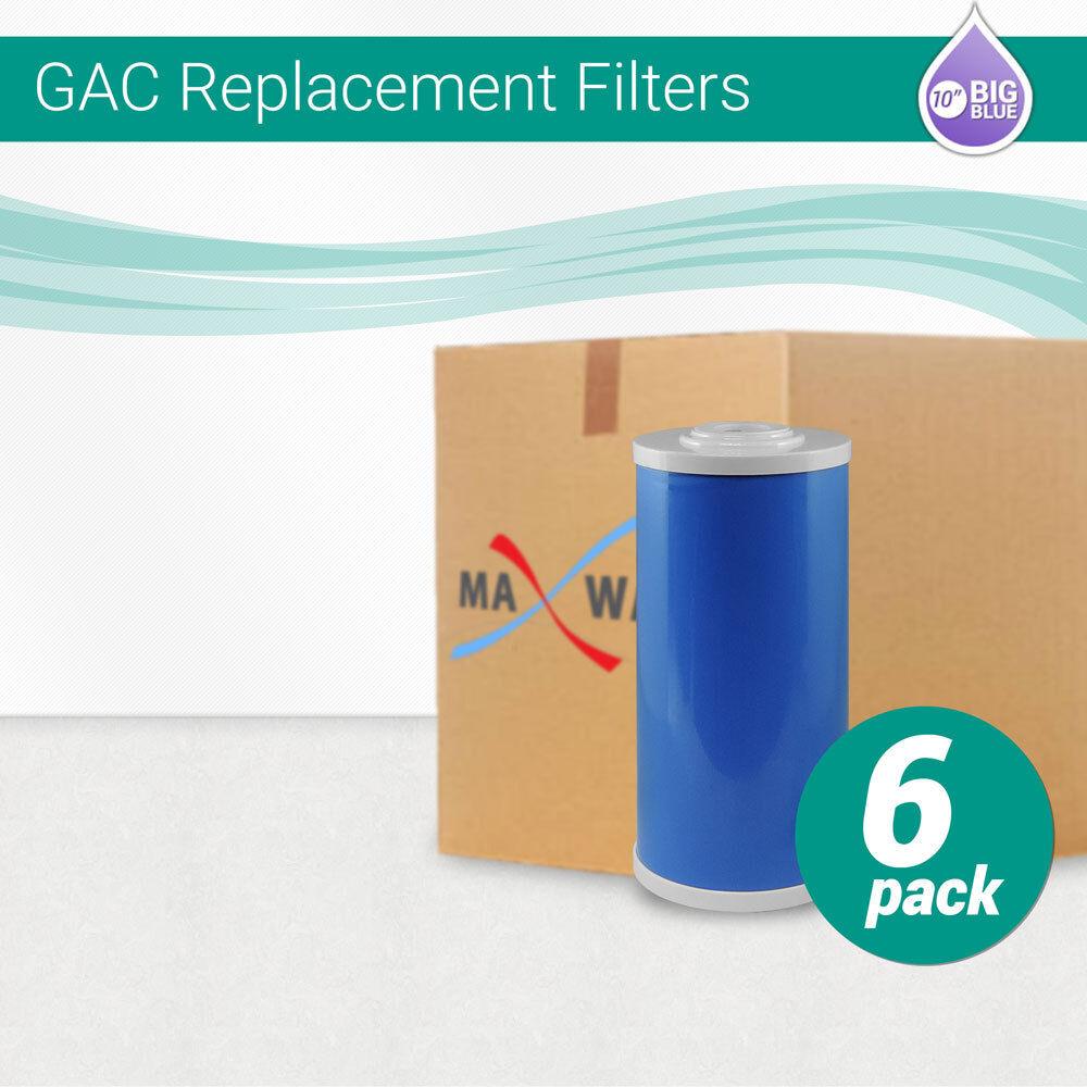 (6Pk)10 x 4.5  Big bleu Granular Activated Carbon GAC UDF Water Filter Cartridge