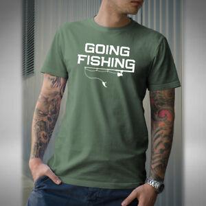 Going-Fishing-T-shirt-Fishing-Carp-Pike-Angler-Fly-Night-Fisherman-Funny-Baiter
