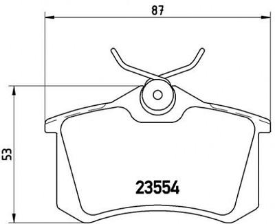 Scheibenbremse P85020X für AUDI CITROËN DS FIAT FORD BREMBO Bremsbelagsatz