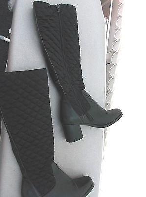 Zapato trabajos señoras de largo patas Negro Botas Talla 3