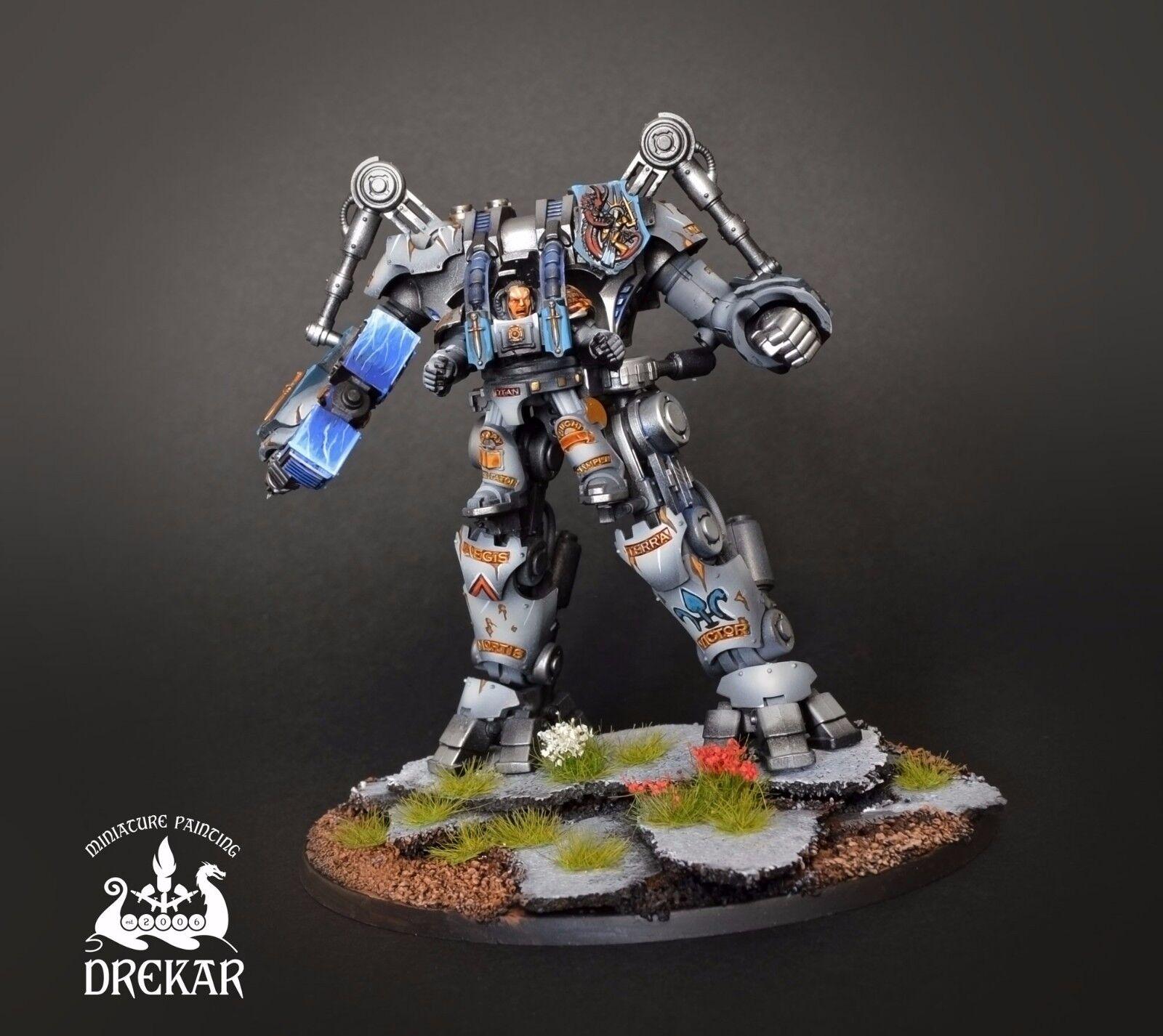 Gris Caballeros Nemesis Dreadknight Warhammer 40K   Comisión Pintura