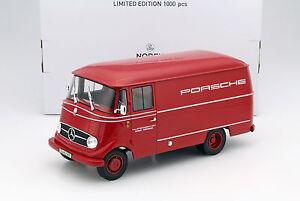 MERCEDES-BENZ-l319-porsche-renndienst-annee-modele-1955-rouge-1-18-NOREV