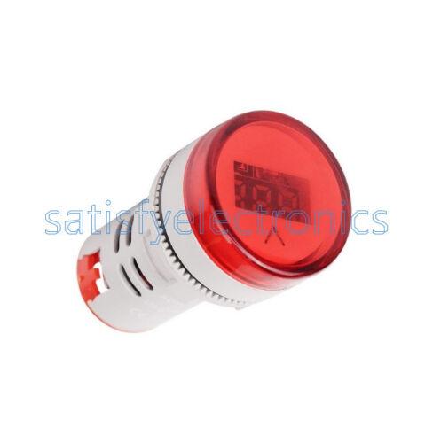 22MM AC60-500V LED Voltmeter Voltage Meter Indicator Pilot Light