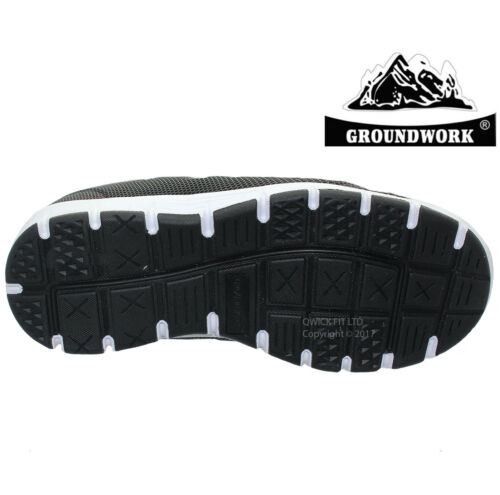 NEW MENS GROUNDWORK SAFETY ULTRA LIGHTWEIGHT STEEL TOE CAP TRAINERS  WORK BOOTS