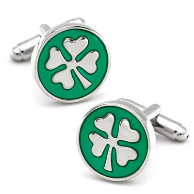 Leaves Cufflinks for Men Great Design Nice Quality Silver Tone