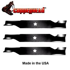"""3 Pack of Copperhead Hi Lift Blades for 54"""" Deck fit 187254 187256 532187256"""