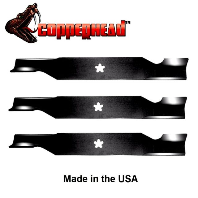 "3 Pack Hi Lift Blades fit Craftsman Sears 187254 187256 532187256 for 54"" Deck"