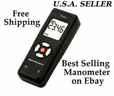 New Stgist Digital Manometer Differential Air Pressure Meter +9V battery U.S.A.