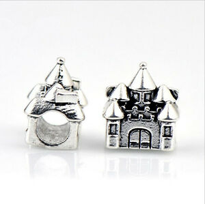 10P-Silver-Plated-Big-Hole-alloy-Beads-Fit-European-Charm-Bracelet-HJ0190