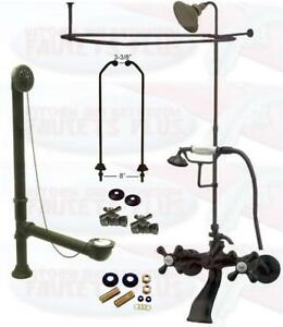clawfoot tub shower enclosure kit. Image is loading Oil Rubbed Bronze Clawfoot Tub Faucet Kit W  Shower Riser