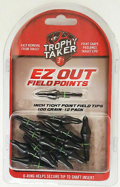 Trophy Taker Tight Point Field Tips 100gr 12pk for sale online