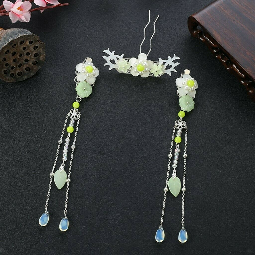 Pearl flowers tassels hairpin hair clip vintage hair accessory traditional
