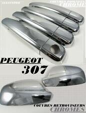CHROME DOOR HANDLE COVER + MIRROR COVER TRIM SIDE CAP PEUGEOT 307 307CC CC SW