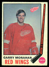1969 70 OPC O PEE CHEE HOCKEY #160 GARRY MONAHAN EX COND DETROIT RED WINGS CARD