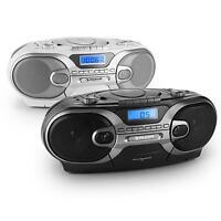 Top: Tragbarer Cd Player Stereo Box Hifi Anlage Radio Tuner Mp3 Usb Mc Kassette