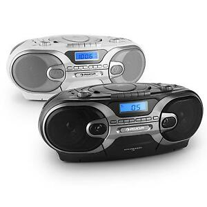 top tragbarer cd player stereo box hifi anlage radio. Black Bedroom Furniture Sets. Home Design Ideas