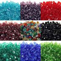 4mm Faceted Bicone Crystal Glass Beads - Choose From 15 Colours x 100pcs