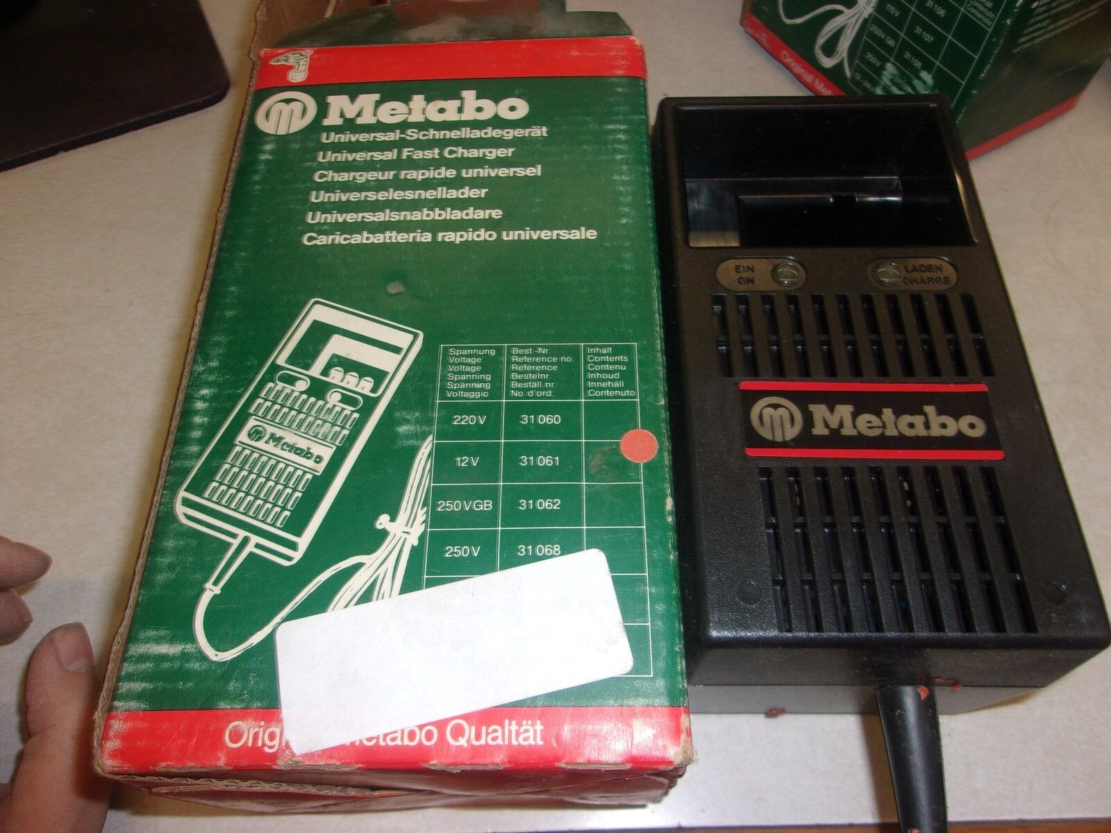 METABO 31 061 UNIVERSAL FAST BATTERY CHARGER