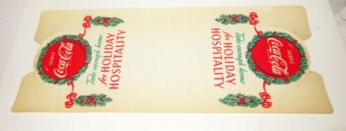 Vintage 1950/'s Coca Cola Bottle Six Pack Holiday Advertising Wrapper Old Stock