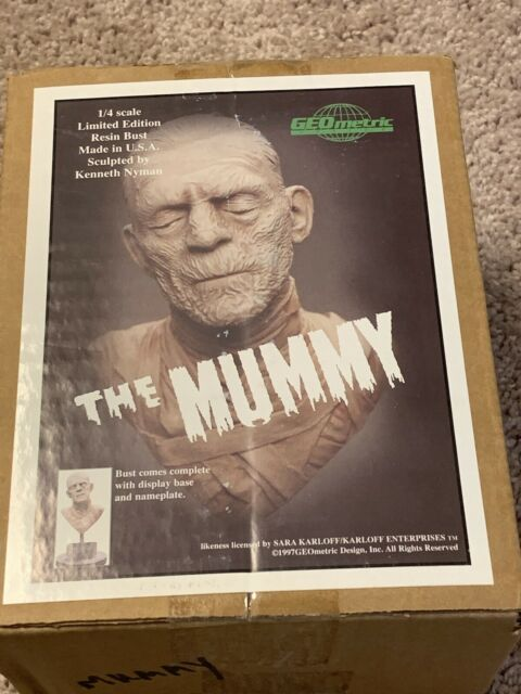 RARE The Mummy monster resin bust 1/4 scale resin, GEOmetric OOP