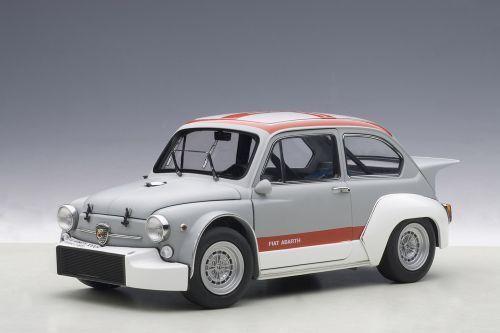 1/18 Autoart - Fiat Abarth 1000 Tcr 1970 OPACO Grigio/Rosso Stripes