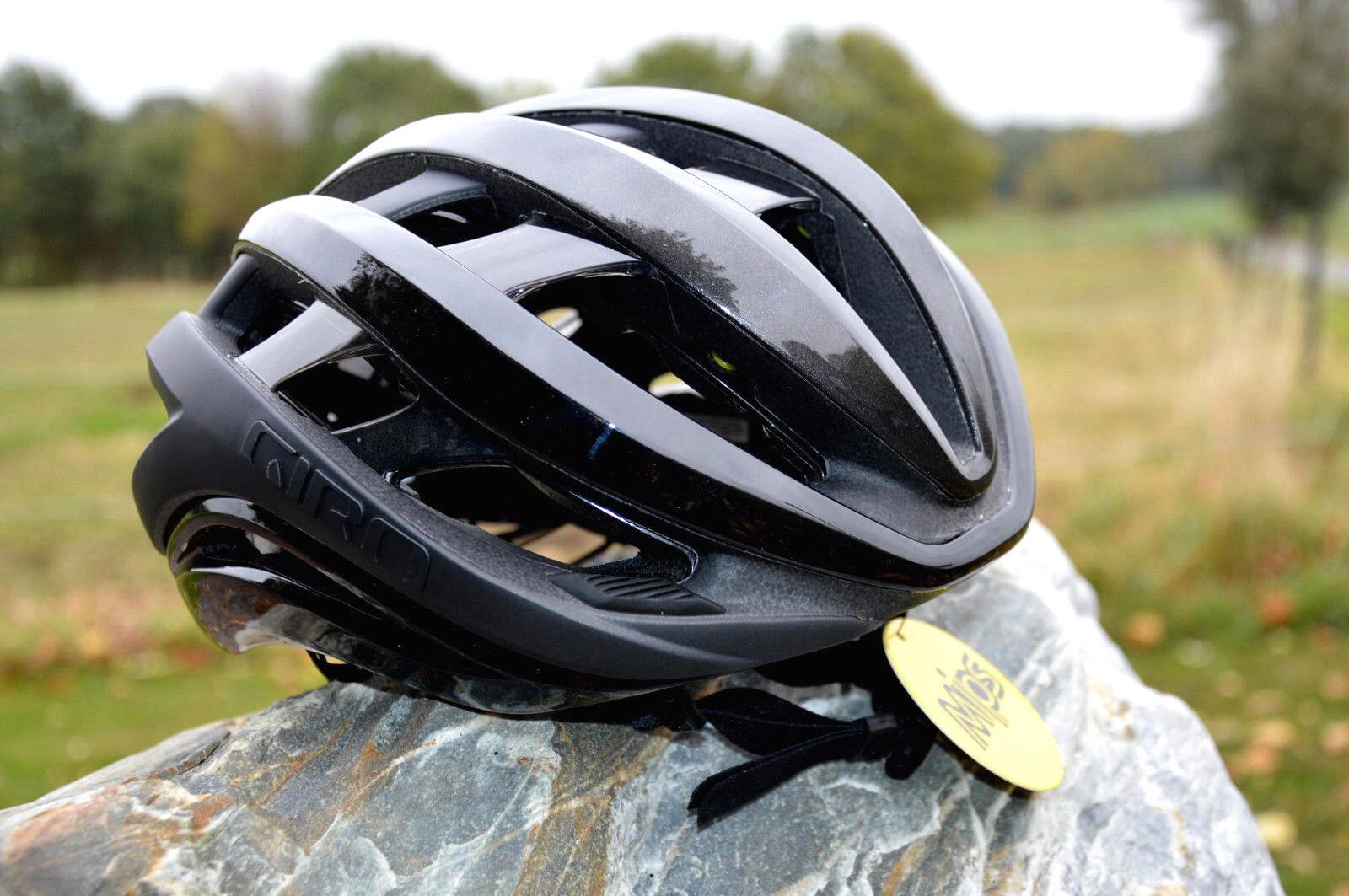 Giro Aether Mips Vélo Léger Vélo de de de Course Casque Bonne Aération Noir Mat 103977
