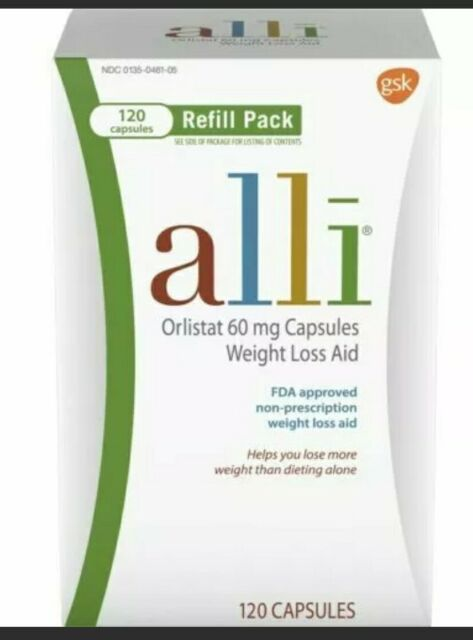 Alli 60mg Weight Loss Pills - 120 Count For Sale Online