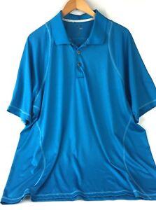 Adidas CLIMACOOL Mens XL Blue Polo Golf Shirt Short Sleeve