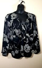 Size 18/20 LANE BRYANT 1X Summer Sheer Top Woman's Blouse Plus Empire