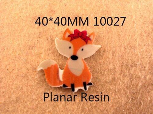5 x 40mm FOX LASER CUT FLAT BACK RESIN HEADBANDS HAIR BOWS CARD MAKING PLAQUES