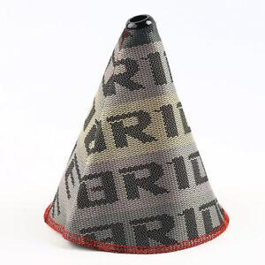 Car JDM Gradation Fabric Racing Gear Shift Knob Shift Boot Cover MT//AT For Bride