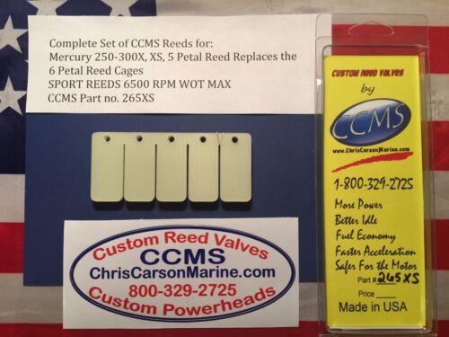 XS 5 Petal Replaces 6 PetalCagesPN265XS CCMS Mercury Sport Reed Valve 250-300X