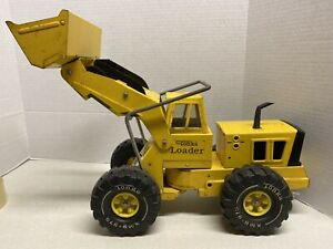 MightyTonka-Truck-Front-End-Loader-1970s-Pressed-Steel-Construction-XMB-975